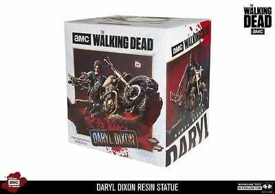 Mcfarlane The Walking Dead Daryl Dixon Resin Statue Figure W/ Signed Coa Sealed