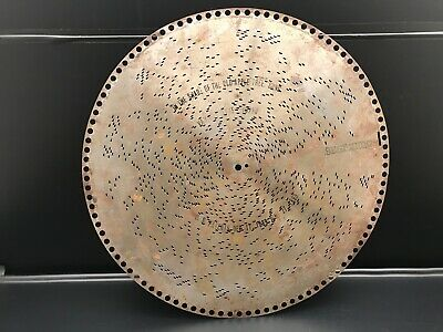 """Antique 15 1/2"""" Regina Music Disc """"in The Shade Of The Old Apple Tree"""" #10290"""