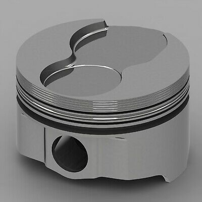 Icon Forged Piston Set - Olds 455 Rod 6.735 Flat Top 14.4cc 2v