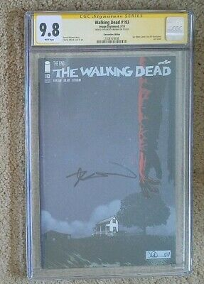 "The Walking Dead #193 ""the End"" 2019 Sdcc Rare Nighttime Variant! Cgc 9.8 Signed"