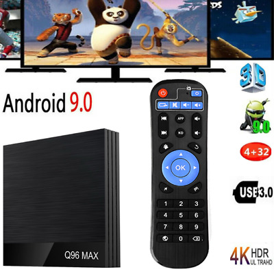 Q96 Max Android9.0 Tv Box 32g 4-core 6k Hd Wifi Keyboard Lot Media Player J7x8