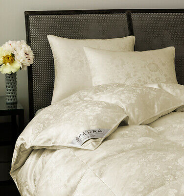 "Sferra Snowdon Twin Down Duvet Comforter Medium 22 Oz 71""x86"" New $2,900"