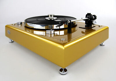 Restored Thorens Td145 Turntable Limited Edition Gold Metallic