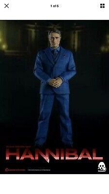 Rare Dr. Hannibal Lecter  Mads Mikkelsen Three Zero 1/6 Scale Figure From U.s.!