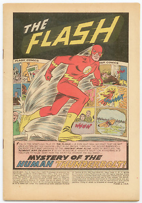 Showcase #4 Very Nice Coverless Issue Origin 1st App. The Flash 1st Dc S-a Comic