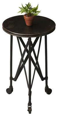 Accent Table With Casters In Metalworks Finish [id 3069253]