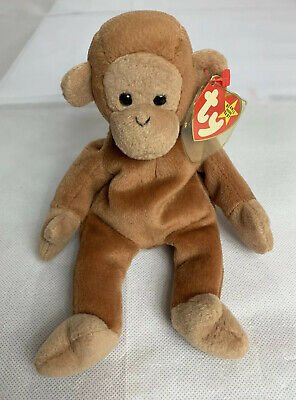 Beanie Babies Ty Bongo The Monkey With Tan Tail Retired Plush Stuffed With Tag