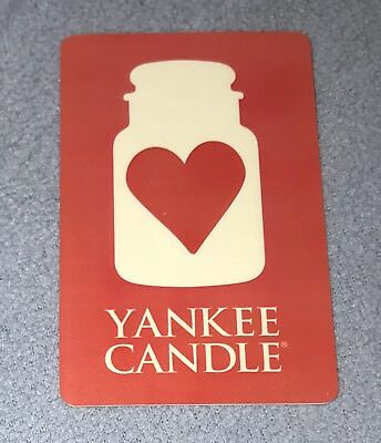 Yankee Candle Gift Card Red Heart Happy Valentines Day No Value New