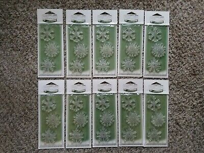 Yankee Candle Sparkling Snow Scented Snowflake Christmas Tree Ornaments Lot 10
