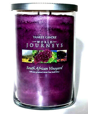 Yankee Candle South African Vineyard World Journeys 20 Oz 2 Wick Rare Retired