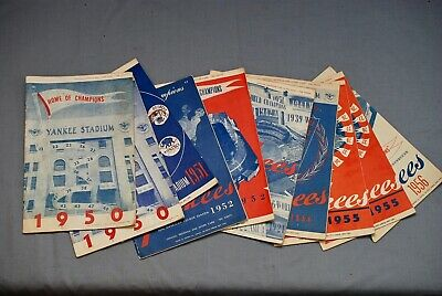 Collection (10) Ny Yankees 1950 - 1956 Yankee Stadium & Polo Grounds Programs