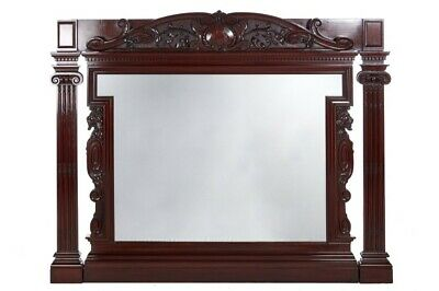 Fantastic Quality Antique Victorian Mahogany Large Carved Wall Mirror