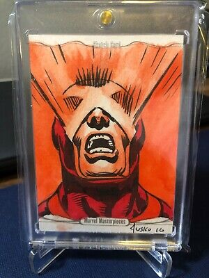 2016 Marvel Masterpieces Jusko Sketch Cyclops Rare Only 1of1 🔥🔥🔥 Black Friday