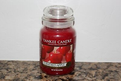Yankee Candle Candied Apple Large 22 Oz Classic Jar Candle ~autumn/fall~