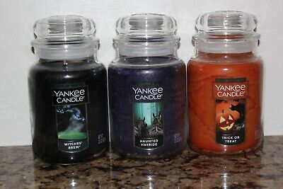 Yankee Candle Witches Brew~haunted Hayride~trick Or Treat~3 Large Jars~halloween