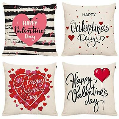 Gtext Happy Valentines Day Pillow Covers Love Heart Valentines Day Decor Throw