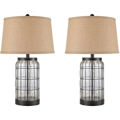 Stein World 77094/s2 Yankee Hill Table Lamp Oil Rubbed Bronze/clear Glass