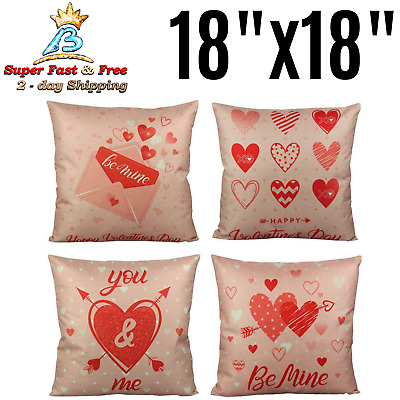 Happy Valentines Day Throw Pillow Covers Romantic Gift Love Quotes Cushion Case