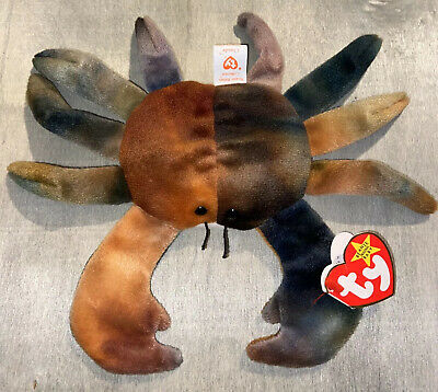 Ty Claude The Crab Rare Retired Ti Dyed Beanie Baby With Errors 1996