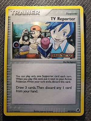 TV Reporter 82/101 Dragon Frontiers STAMPED Holo Uncommon -LP- Pokemon DNA GAMES