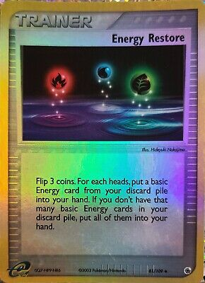 Pokemon: Energy Restore 81/109 - Reverse Holo Card - Ruby Sapphire Nm/lp