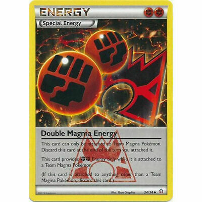 Double Magma Energy 34/34 Double Crisis Uncommon Light Play LP Pokemon DNA GAMES