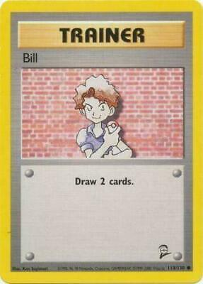 Bill 118/130 Base Set 2 Common Moderate Play Pokemon DNA GAMES