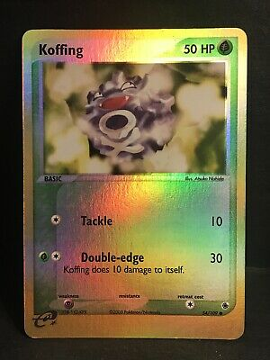 KOFFING 54/109 LP Reverse Holo Ruby&Sapphire Pokemon Card. Fast Shipping!