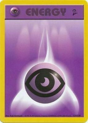 Psychic Energy 129/130 Base Set 2 Light Play LP Pokemon DNA GAMES