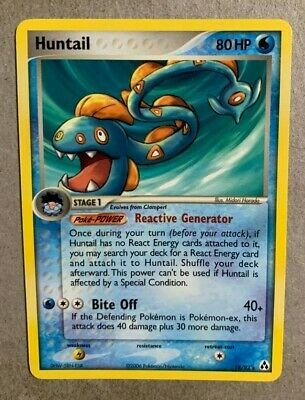 Huntail 18/92 EX Legend Maker - Rare Pokemon Card - NM/Mint