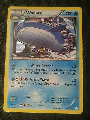 1x Wailord 26/124 Dragons Exalted Holo Rare Pokemon Card