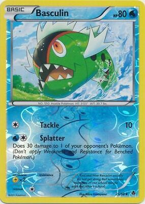 Basculin 25/98 Emerging Powers Reverse Holo Unc Near Mint NM Pokemon DNA GAMES