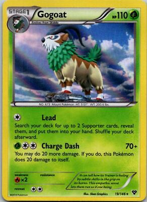 Gogoat 19/146 Holo XY Base Pokemon Card ~ Near Mint