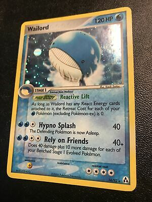 Wailord 14/92 NM Holo Rare Vintage Legend Maker Pokemon Card. Fast Shipping!