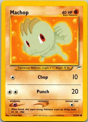 Machop 73/105 Neo Destiny Pokemon Card ~ Played