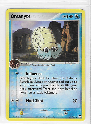Pokemon Omanyte 56/108 Power Keepers Common Near Mint Condition