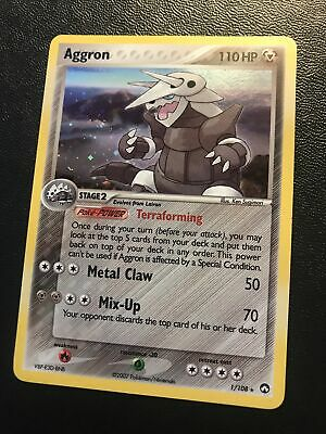 Aggron 1/108 NM Holo Rare Power Keepers Pokemon. Fast Shipping with Tracking!