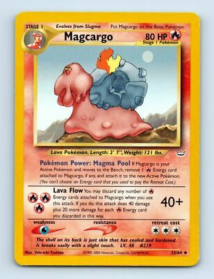 Magcargo 33/64 Neo Revelation Pokemon Card ~ LP