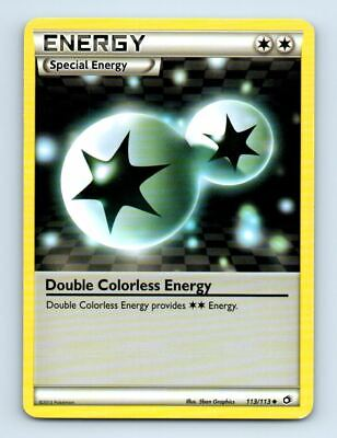 Double Colorless Energy 113/113 Non-Holo Legendary Treasures Pokemon Card ~ LP