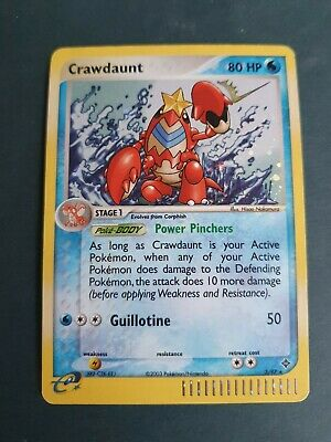 Pokemon Cards Crawdaunt Holo Rare 3/97 EX Dragon