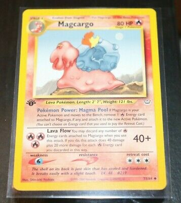 Magcargo 33/64 1st Edition Neo Revelation Pokemon Card NM
