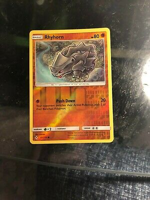 Rhyhorn Pokemon Card Unbroken Bonds 92/214 (Common) - With Protective Sleeve