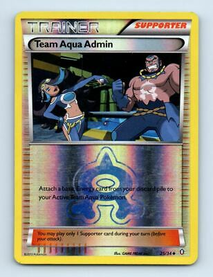 Team Aqua Admin 25/34 Reverse Holo Double Crisis Pokemon Card ~ Played