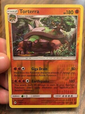Torterra 2018 Stage 2 Rare Reverse Holo Pokemon Card - Forbidden Light #58/131!!