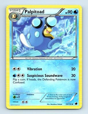 Palpitoad 25/116 Non-Holo Plasma Freeze Pokemon Card ~ LP
