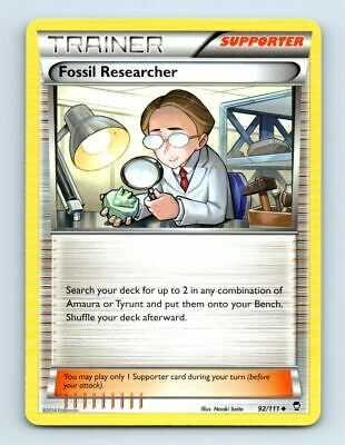 Fossil Researcher 92/111 Non-Holo XY Furious Fists Pokemon Card ~ Near Mint