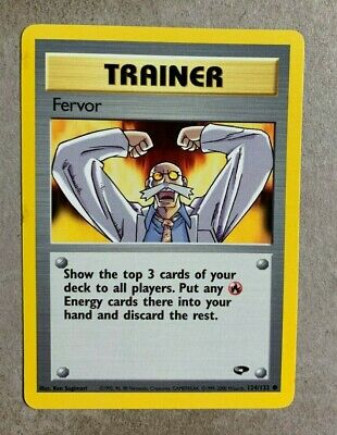 Fervor 124/132 Gym Challenge - Common Pokemon Card - NM/Mint