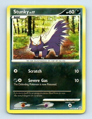 Stunky 102/130 Non-Holo Diamond & Pearl Pokemon Card ~ LP
