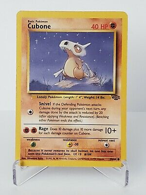 Cubone 50/64 Jungle Unlimited Common !LP Pokemon