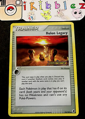 Holon Legacy 74/101 NM Holo Dragon Frontiers Stamp Pokemon. Free Tracked Ship!